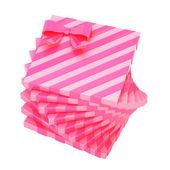 Rosa geschenkboxen — Stockfoto