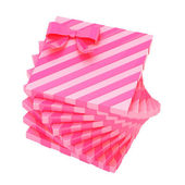 Pink gift boxes — Stock Photo