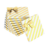Twisted pile of gift boxes — Stock Photo