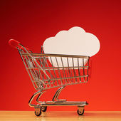 Cloud in shopping cart — Foto de Stock