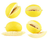 Yellow melon set — Stockfoto
