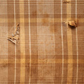 Brown plaid cloth texture — Stock Photo