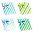 Gift boxes with bows and ribbons — Stock Photo #49079933