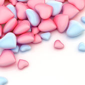 Pile of hearts over a surface — Stockfoto