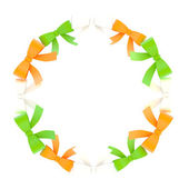 Round frame made of ribbon bows — Stock Photo