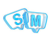 SM composition made of text bubbles — Stock Photo