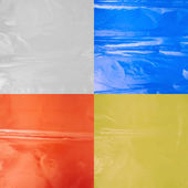 Creased plastic polyethylene film — Stock Photo