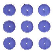 Devět kulaté svíčky — Stock fotografie