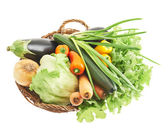 Different vegetables in basket — Stock Photo