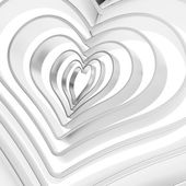 Heart shape figure abstract background — Stock Photo
