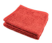 Folded terry towel isolated — Stock Photo