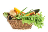 Different vegetables in the basket — Stock Photo