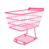 Colorful shopping cart — Stock Photo