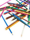 Pile of colorful pencils — Stock Photo