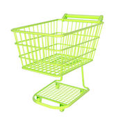 Colorful shopping cart isolated — Stock Photo