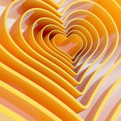 Heart shape figure abstract background — Zdjęcie stockowe
