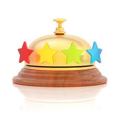 Four star hotel's reception bell — Stock Photo