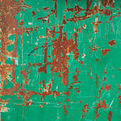 Painted green rusty metal surface — Stock Photo