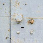 Metal door fragment — Stock Photo