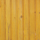 Painted wooden fence fragment — Stock Photo