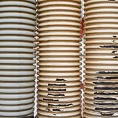 Old threadbare tubes — Stock Photo