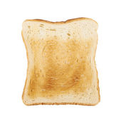 Toasted slice of bread isolated — Stock Photo