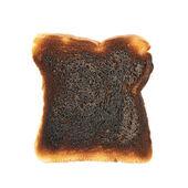 Burnt toast bread — Stock Photo