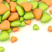 Pile of hearts — Stock Photo