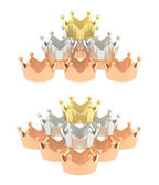 Pyramid pile of crowns — Stock Photo