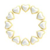 Hearts Round frame — Stock Photo
