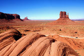 The Classic Western Landscape in Monument Valley ,Utah — Stock Photo