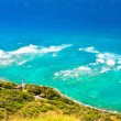 Lighthouse overlook from Diamond Head,Hawaii — Stock Photo