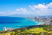 Beautiful Skyline of Oahu,Hawaii — Stock Photo