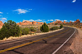 Desert Road in Arches National Park, Utah — Stock Photo
