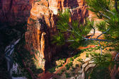 Red Rock Mountain in Zion National Park,Utah — Stock Photo