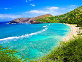 Snorkeling Bay in Oahu,Hawaii — Stock Photo