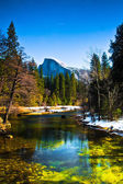 Half Dome Rock , the Landmark of Yosemite National Park,California — Foto de Stock