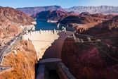 Hoover Dam across the Border of Nevada and Arizona — Stock Photo