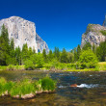 Yosemite Valley with El Capitan Rock and Bridal Veil Waterfalls — Stock Photo #26480629