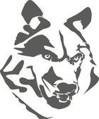 Portrait of dangerous wolf — Stock Vector
