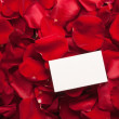 Card and rose petals with a blank space — Stock Photo #24369909