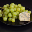 Grape with cheese - Stock Photo