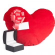 Heart with a box — Stock Photo