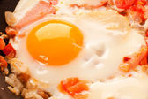 Scramble egg — Stock Photo