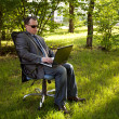 Businessman outdoor — Stock Photo