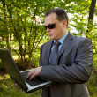 Stock Photo: Businessman outdoor