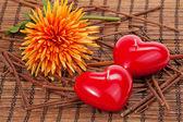 Kırmızı mum — Stok fotoğraf
