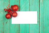 Poster white paper with christmas decoration — Stock Photo