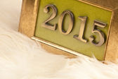 2015 golden numbers — Foto de Stock