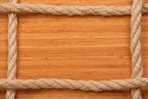 Rám vyrobený z lana — Stock fotografie